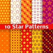 Link toDifferent star seamless patterns vector free