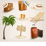 Link toDifferent travel elements icons vector free