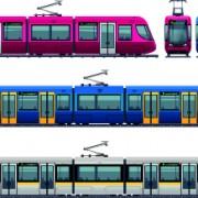 Link toDifferent trolleybus design vectors free