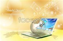 Link toDigital earth notebook music psd