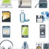 Link toDigital equipment icon vector