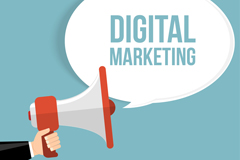 Link toDigital marketing business illustration vector