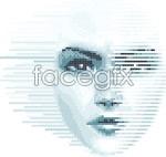 Link toDigital women face vector