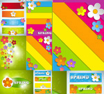 Link toDimensional flower background vector