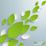 Dimensional leaf cutting background vector