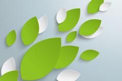 Link toDimensional leaf paper-cut vector background