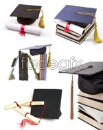 Diploma and degree cap psd