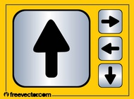 Direction icons vector free