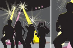 Link tovector silhouettes female and male in gaudeamus Disco