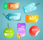 Link toDiscount color stickers vector