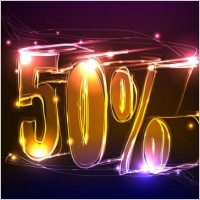 Link toDiscount gorgeous neon background 01 vector