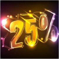 Link toDiscount gorgeous neon background 02 vector