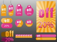 Link toDiscount price labels vector free