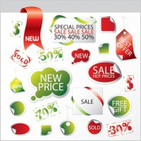 Link toDiscount sale of decorative and practical icon vector elements