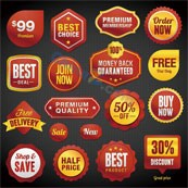 Link toDiscount sales vector labels template
