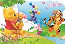 Link toDisney's animated winnie the pooh cartoon tiger psd