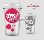 Link toDisposable cups psd