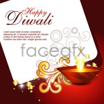 Link toDiwali cards 04 vector