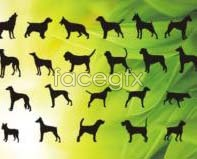 Link toDog silhouette vector graphics design