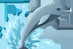 Link toDolphins cartoon vector