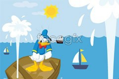Link toDonald duck cartoon vector