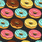 Link toDonut seamless background vector