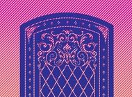 Link toDoor decoration vector free