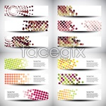 Link toDots square banner vector