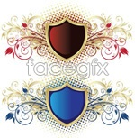 Link toDotted pattern shield vector