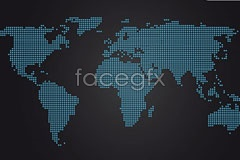 Link tomap world vector Dotted