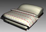 Link toDouble bed design series a iridescent striped 3d model