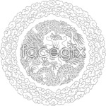 Link toDouble dragon play bead pattern vector