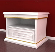 Link toDouble-layer white bedside cabinet 3d model