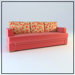 Link toDouble pink household soft cloth art sofa 3d models
