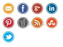 Link toDownload circular social media icons