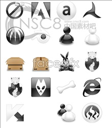 Link toDownload software icons in black and white