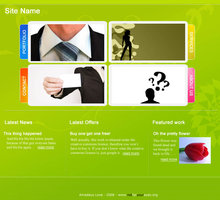 Link toDownloadable funky business web layout psd