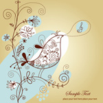 Link toDrawing birds and flowers vector