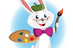 Link toDrawing cartoon rabbit vector