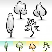 Link toDrawing cute tree vector graphics 02 free