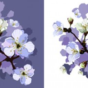 Link toDrawn peach blossom creative vector free