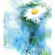 Link toDrawn watercolor flower art background vector set 06 free