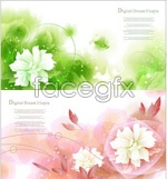 Link toDream bubble flower background vector