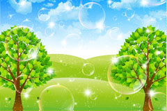 Link toDream bubble tree vector background