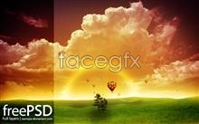 Link toDream cloud view colorful psd