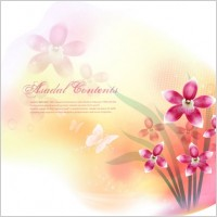 Link toDream flowers vector 13