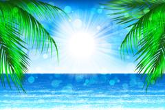 Link toDream ocean background vector