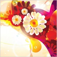 Link toDream of flowers vector background 2