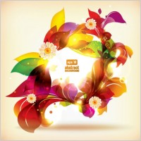 Link toDream of flowers vector background 3