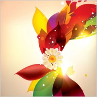 Link toDream of flowers vector background 4